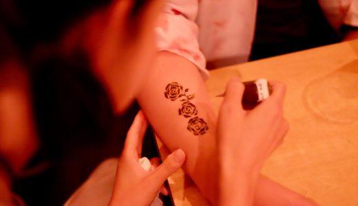 福岡市でヘナタトゥーの練習中! テスターさんの感想まとめ